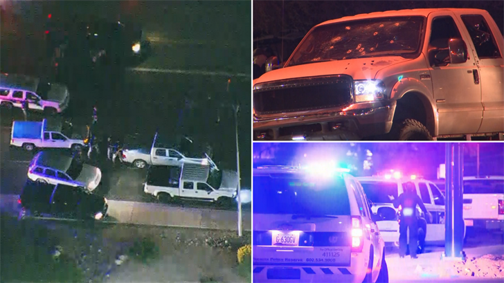A suspect and an officer were hurt in a shooting in central Phoenix. (Source: 3TV/CBS 5)