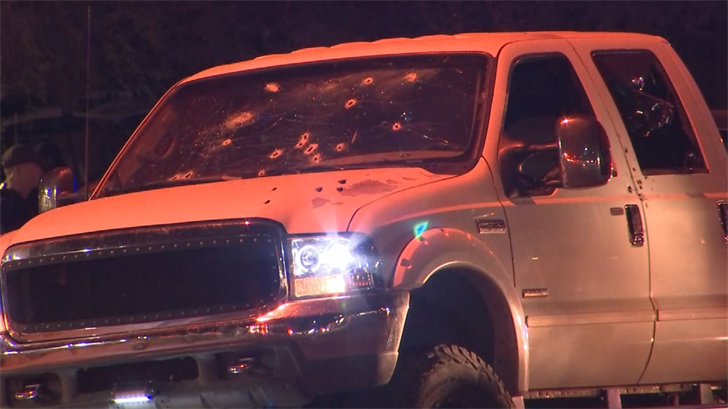 It appears the truck was shot multiple times. (Source: 3TV/CBS 5)