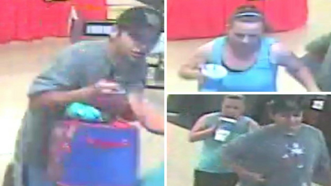 Police said a couple stole items from a Safeway and cut an employee there. (Source: Silent Witness)