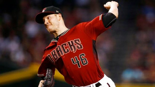 Arizona Diamondbacks' Patrick Corbin throws a pitch against the Miami Marlins during the first inning of a baseball game Sunday, Sept. 24, 2017, in Phoenix. (Source: AP Photo/Ross D. Franklin)
