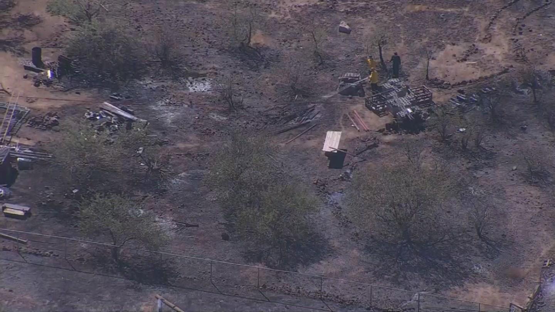 Brush fire near Circle Mountain Rd. and 14th Street. (Source: 3TV/CBS 5 News)