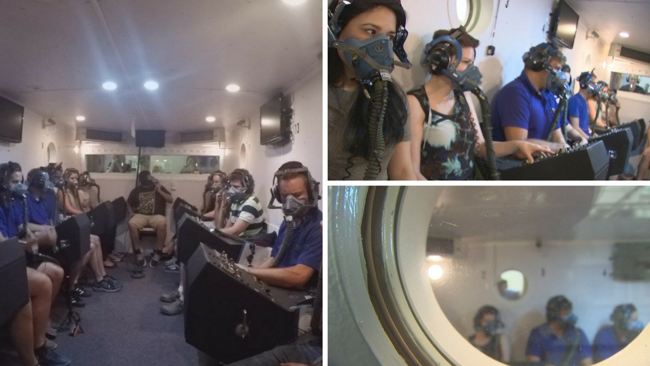 Hypoxia training in an altitude simulator. (Source: 3TV/CBS 5 News)