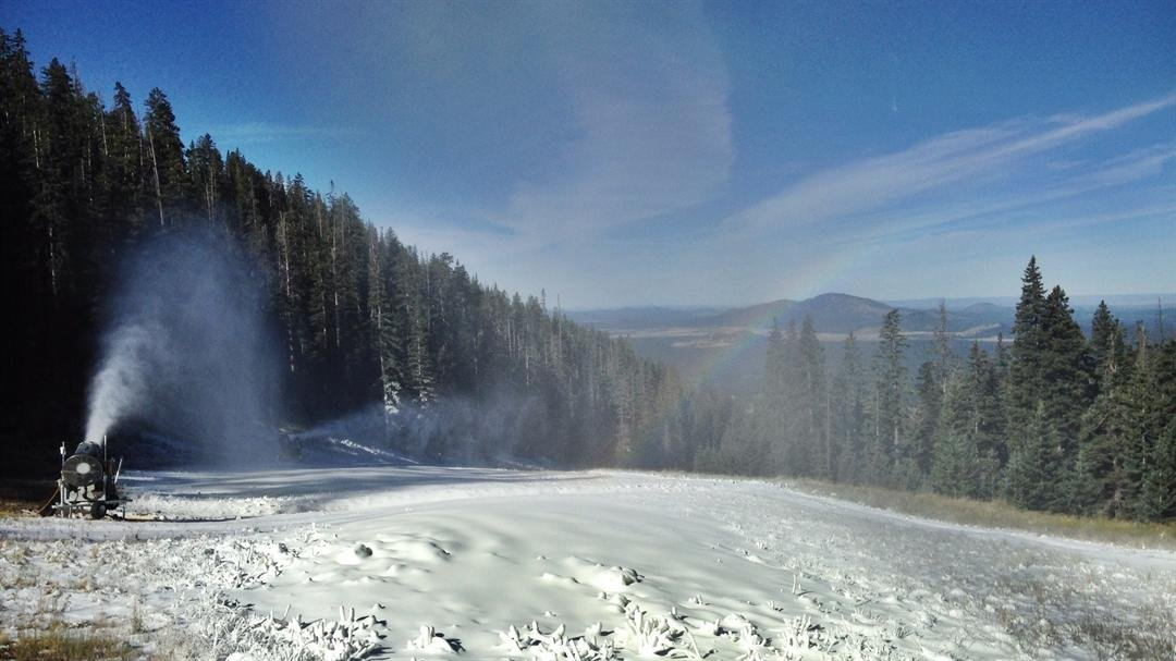 Snowbowl is the first recreation area to fire up the snow makers in the country! (Source: Carlos Danel/Arizona Snowbowl)
