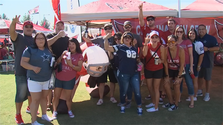 Cardinals fans tailgated before the game and gave their thoughts on the anthem debate. (Source: 3TV/CBS 5)