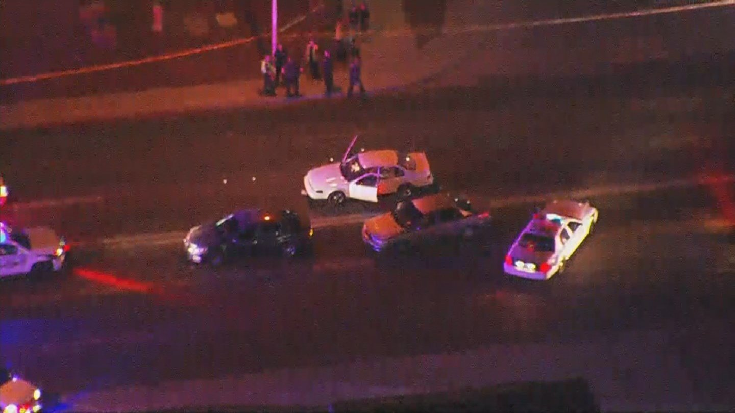 Officers detained a man a short distance away from where the shooting took place and questioned him. Phoenix police said he will be charged with the shooting and are now calling the shooting a road-rage incident. (Source: 3TV/CBS 5)