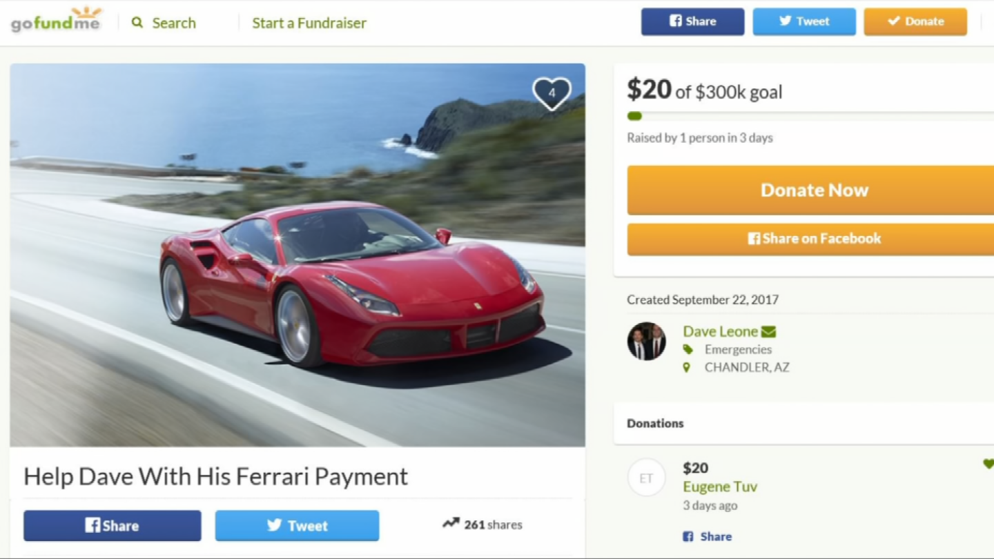 A Valley man created a GoFundMe page to make a point about fundraising. (Source: 3TV/CBS 5)