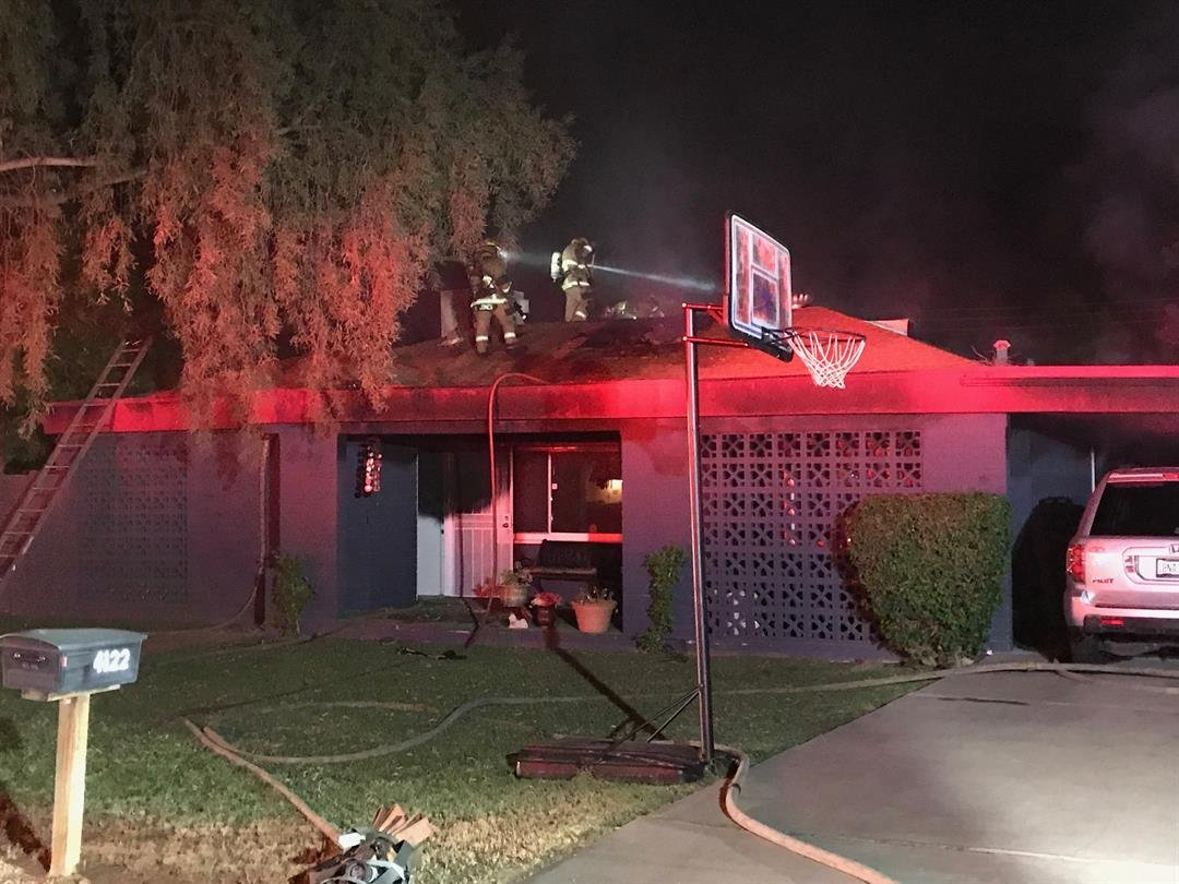 One of two adults home at the time of the fire suffered a non-burn injuring while exiting the home. (Source: Phoenix FD)