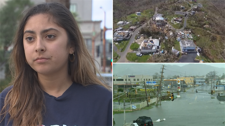 Charlene Santiago is worried about her family in Puerto Rico. (Source: 3TV/CBS 5)