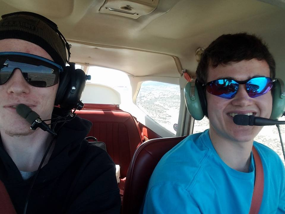 Jeremiah Linnertz (left) was flying with Spencer Kihlstrom (right) when the plane went down. (Source: Facebook)