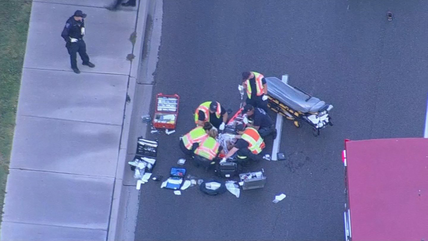 A man was seriously hurt after being struck while riding his bicycle by a car in Tempe early Wednesday morning. (Source: 3TV/CBS 5)