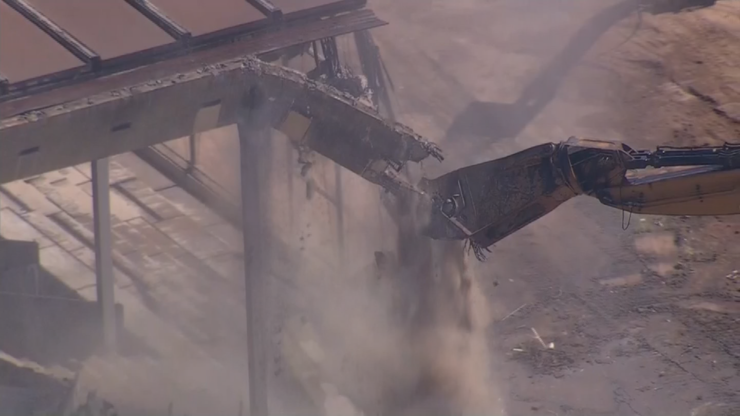 Demolition started on Wednesday. (Source: 3TV/CBS 5)