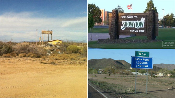 There more than a dozen places that have odd names in Arizona. (Source: Wikipedia)