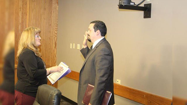 Francisco Heredia was sworn into office Thursday morning following his appointment by the City Council during a special meeting. (Source: mesanow.org)