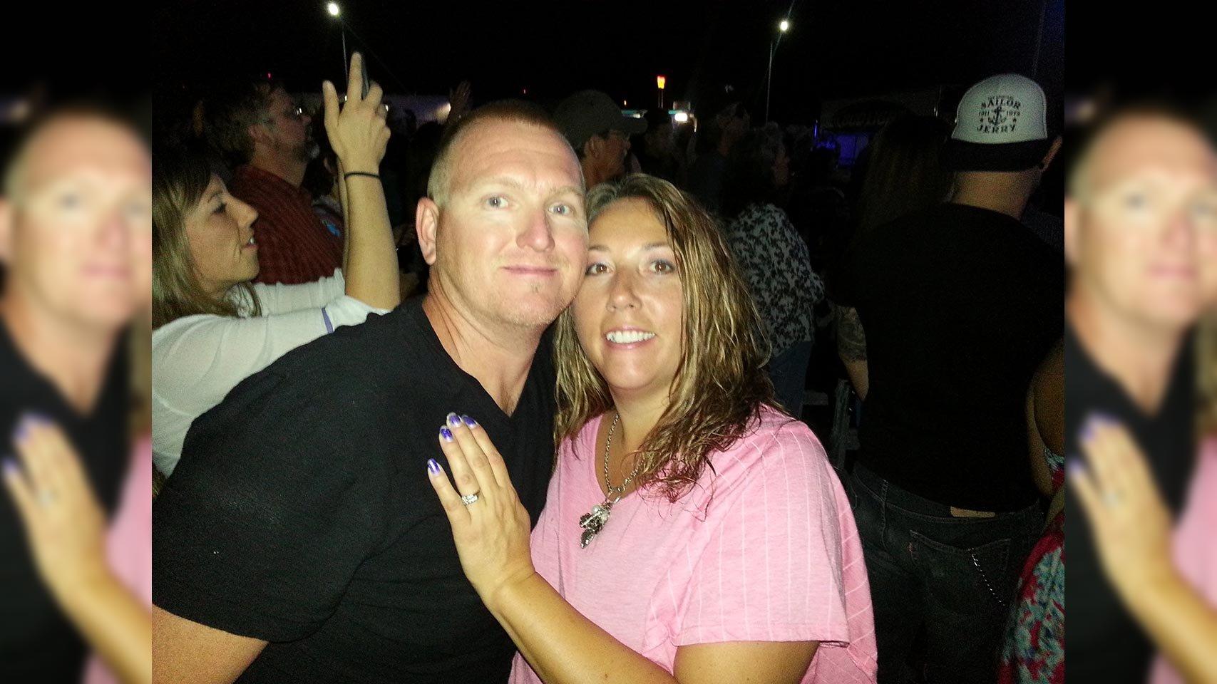 Kurt Fowler and his wife (Source: Ryan Erickson via GoFundMe)