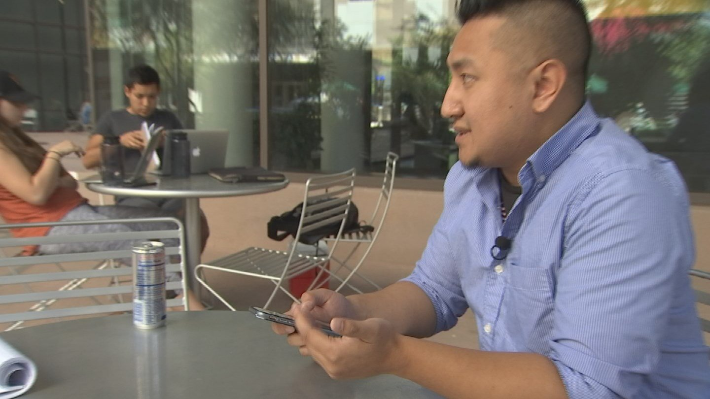 ASU law student David Louie waited to hear from 3 friends, who attended Sunday night's country music festival in Las Vegas, where more than 50 people were shot and killed and hundreds of others injured. (Source: 3TV/CBS 5)