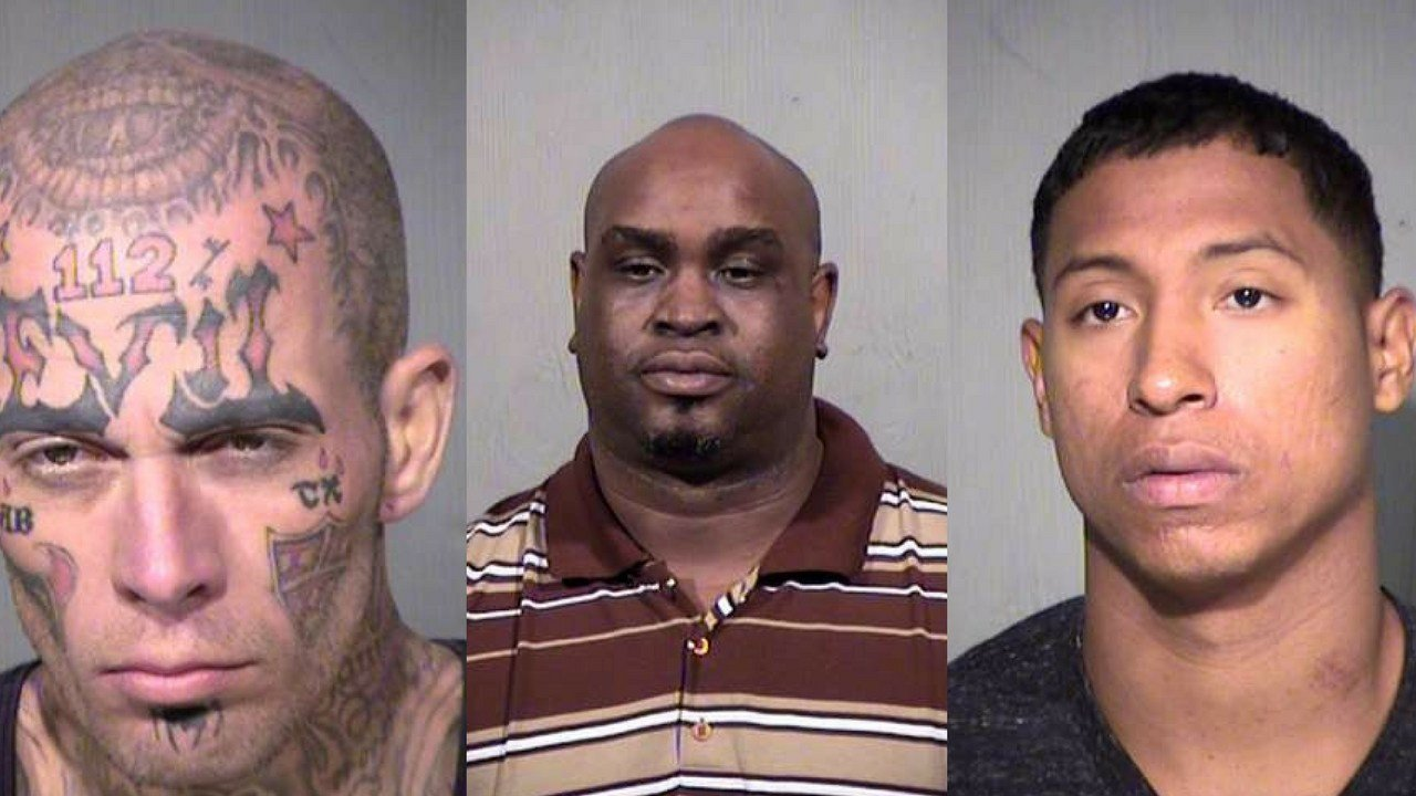 Shane Tadlock, Jerrold Burnett and Jamaine Richardson. (Source: MCSO)