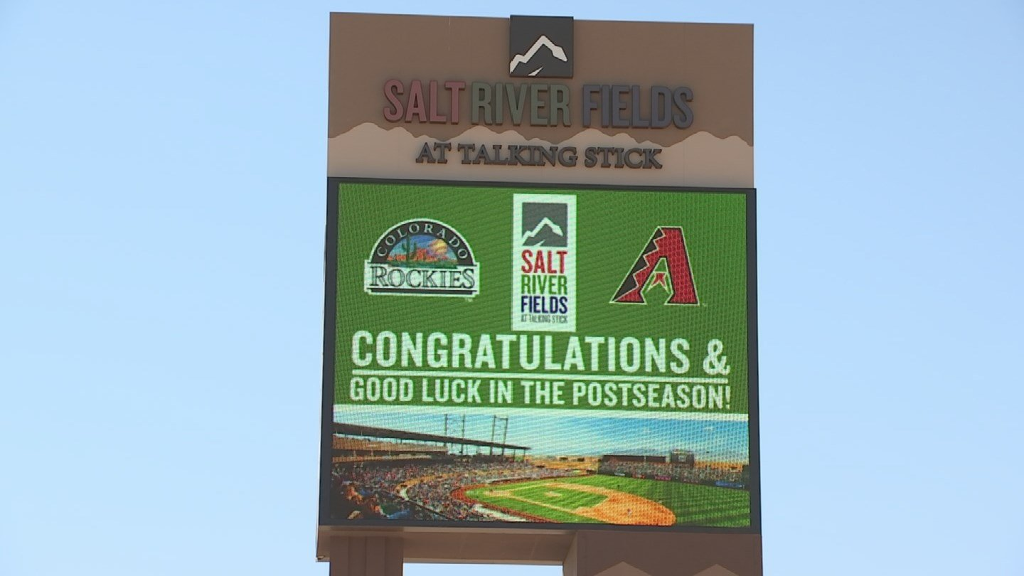 Salt River Fields congratulates the D-backs and Rockies as they square off in a Wild Card game at Chase Field. (Source: 3TV/CBS 5)