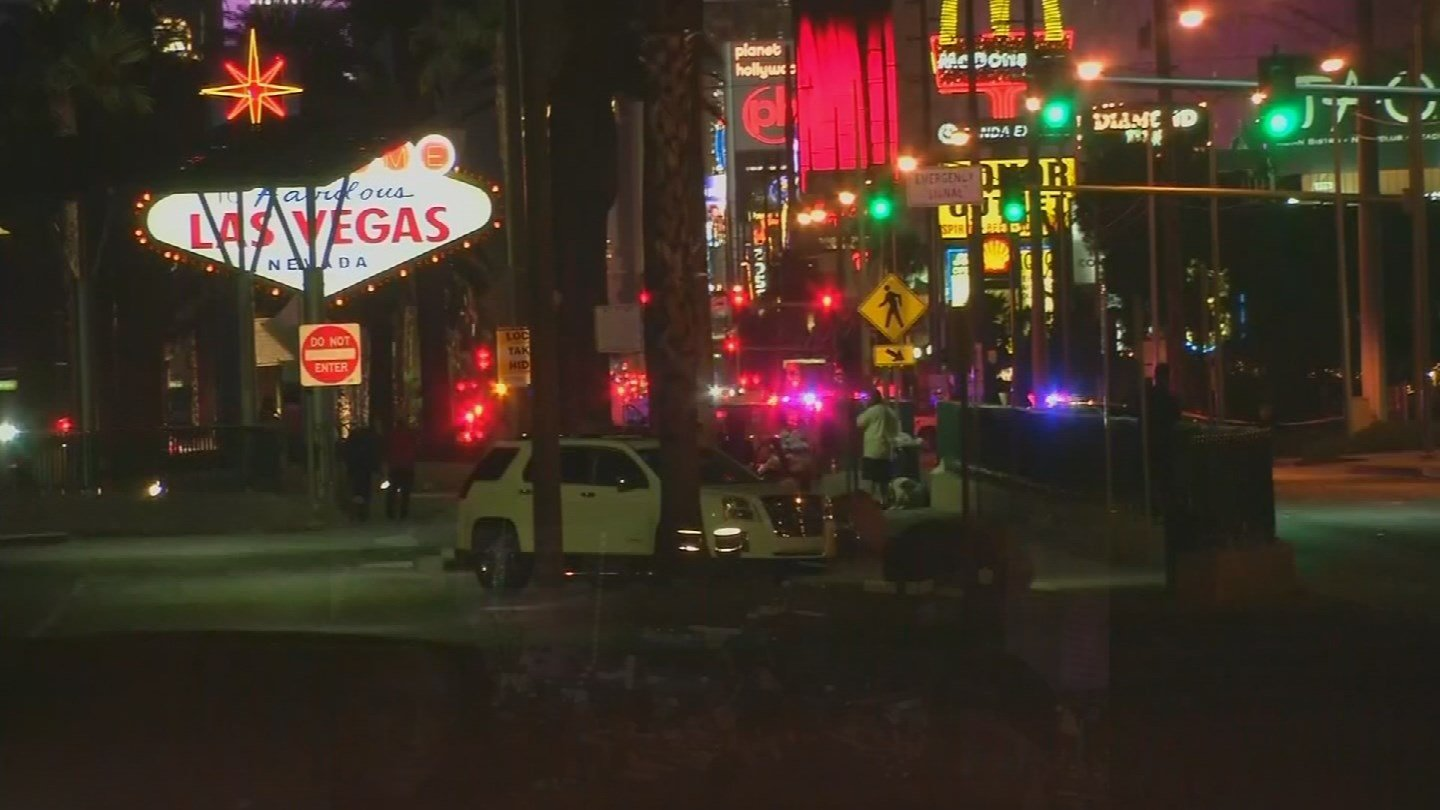 He realized something was terribly wrong when he reached a stop light. He says people started screaming and running into traffic on Las Vegas Boulevard. (Source: 3TV/CBS 5)