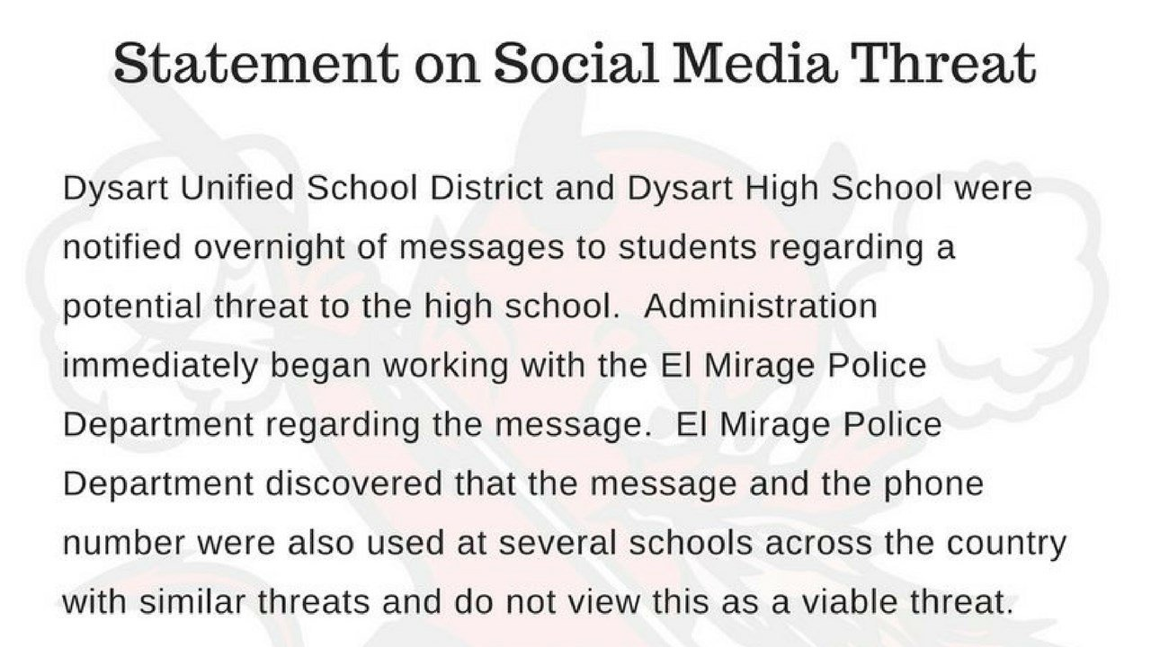(Source: Dysart Unified School District via Twitter)