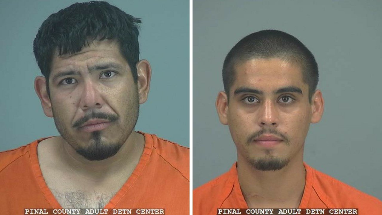Alec Javier Perez, 31 (left) and Rodney Ortiz, Jr., 22 both arrested in connection to the quadruple homicide in Casa Grande. (Source: Pinal County Sheriff's Office)