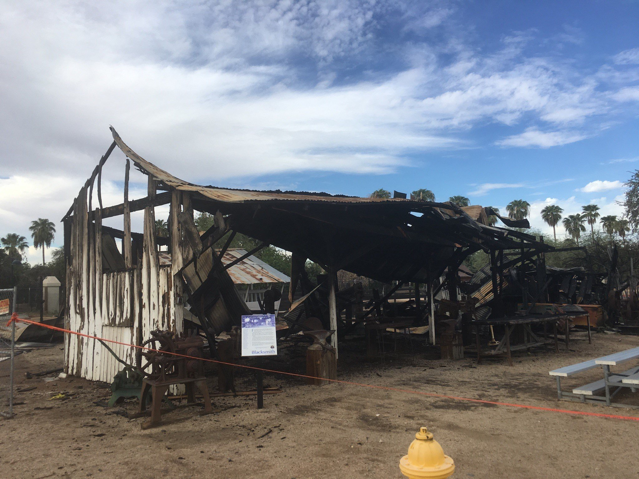 According to a news release, the Glendale Police Department and the Glendale Fire and Medical Department responded to structurefires at Sahuaro Ranch Park near 9800 N. 59th Avenue on September 18, 23 and 26. (Source: Glendale PD)