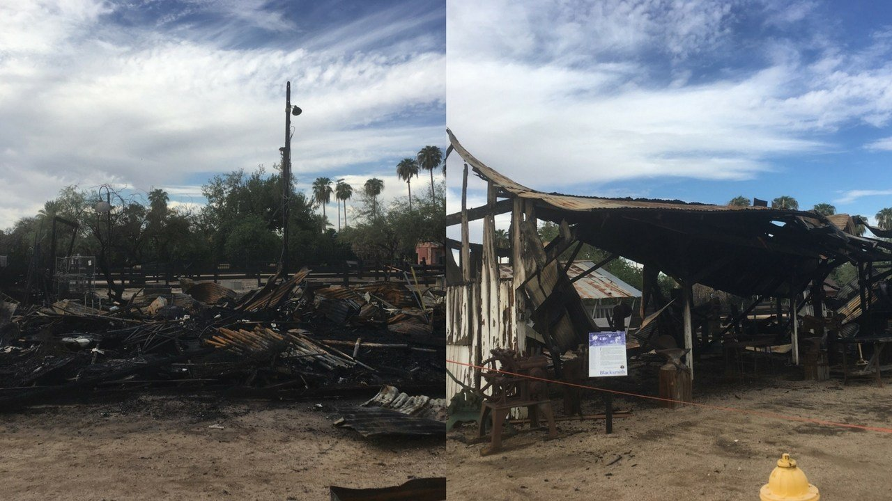 The Glendale Police Department is investigating to determine if there was any criminal behavior involved in multiple structure fires at Sahuaro Ranch Park last month. (Source: Glendale Police Dept.)