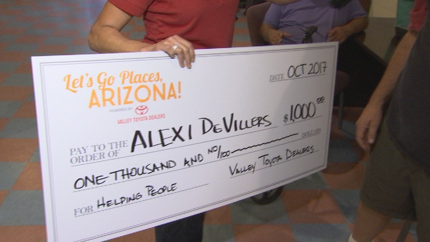 The Let's Go Places project contributed $1,000 to Alexi DeVilliers to help him on his mission to feed the homeless. (Source: 3TV/CBS 5)