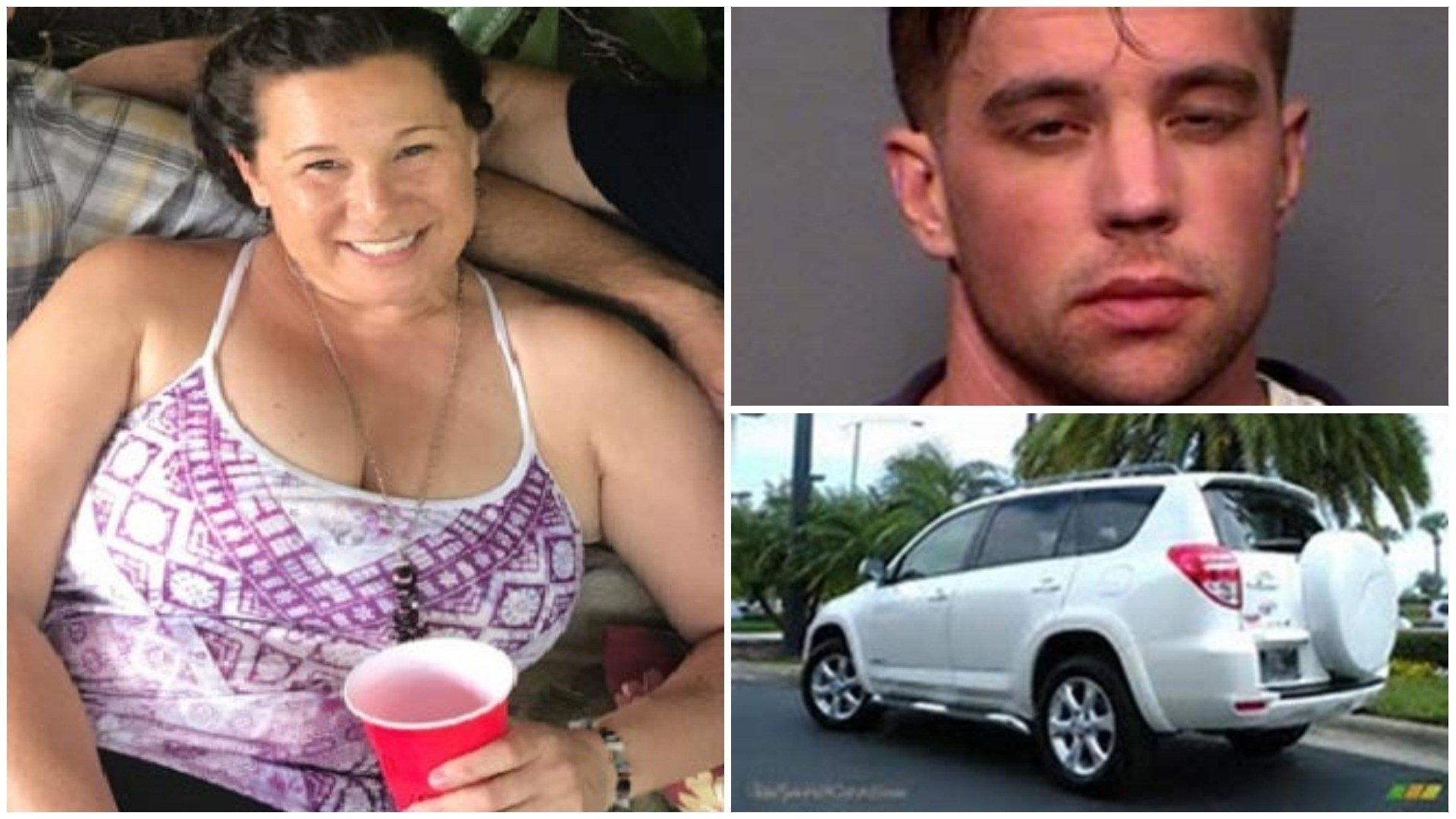 Cathryn Gorospe (left) has not been seen since Sunday. Police say she posted bond for Charle Malzahn (top right) and was driving a Toyota Rav 4 (bottom right). (Source: Flagstaff PD)