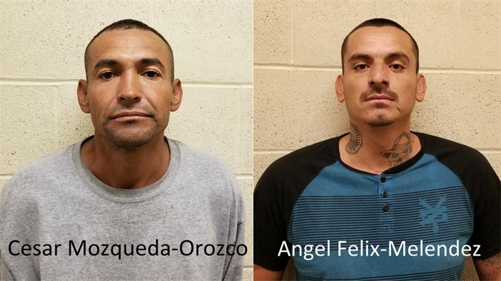 Border Patrol agents arrest two previously deported gang members. (Souce: U.S. CBP)