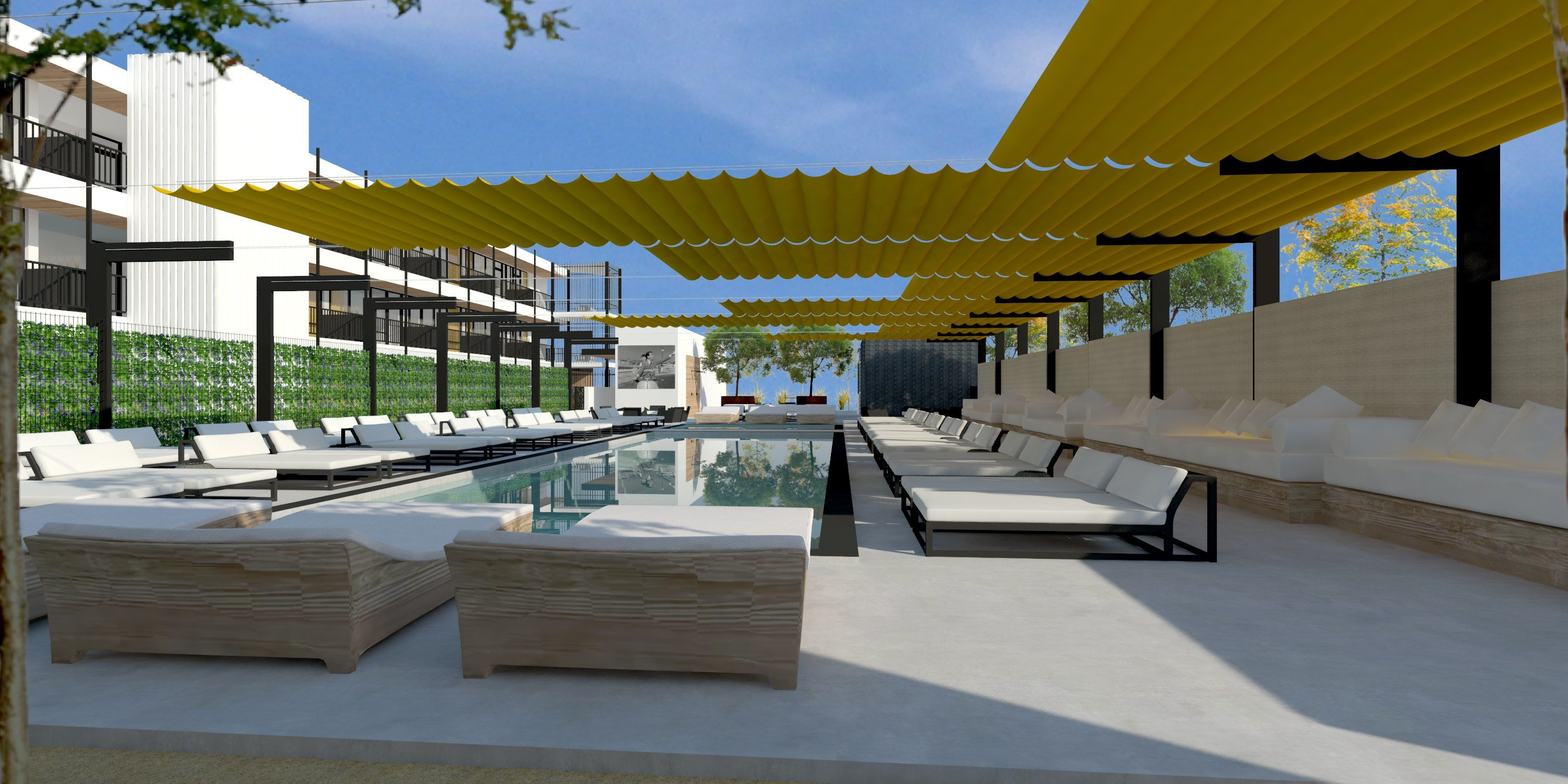 A rendering of the pool that will be incorporated with Arrive Phoenix. (Source: Vintage Partners)
