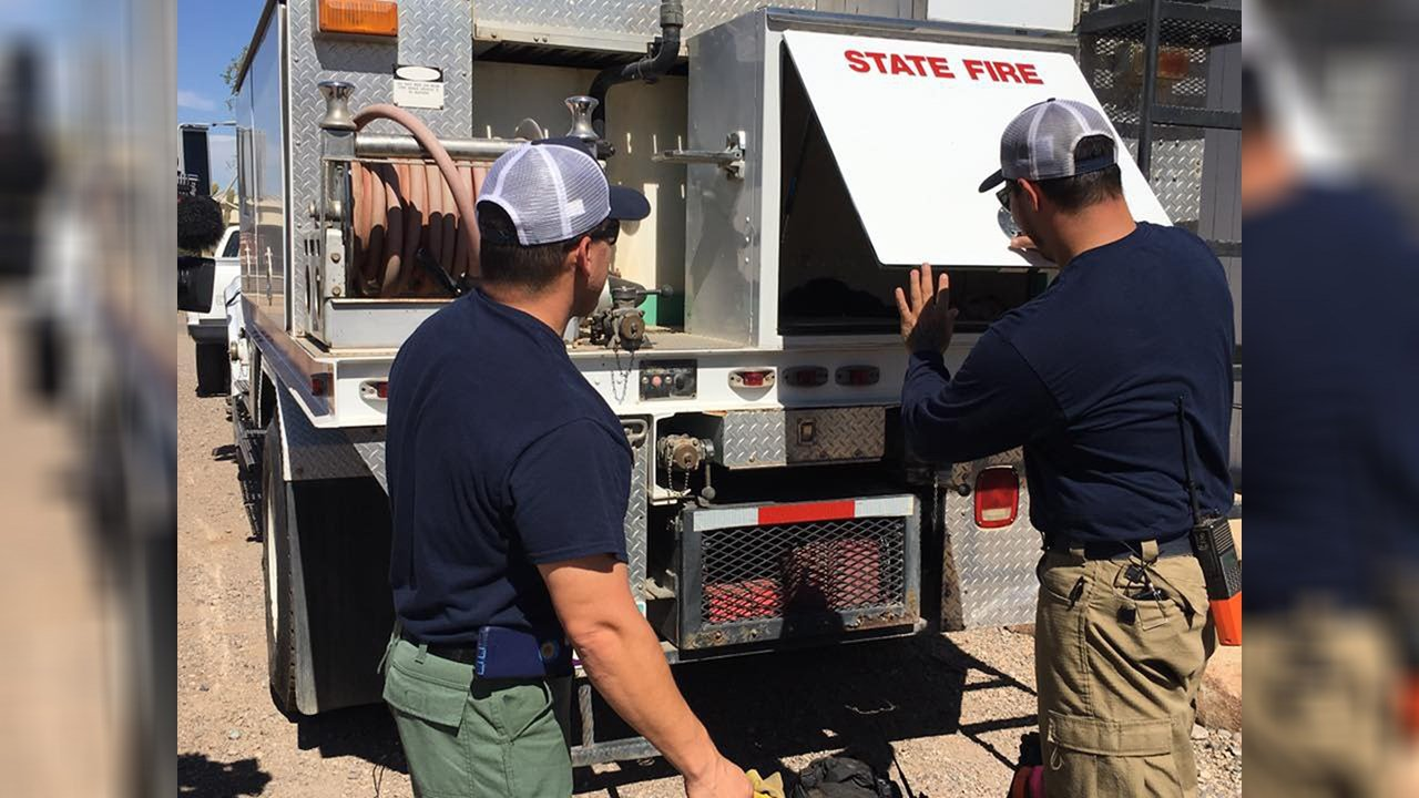 Dozens of firefighters are heading to California to help battle the wildfires  there. (Source: Arizona Department of Forestry and Fire Management)