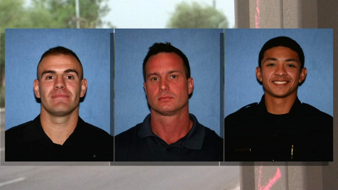 Michael J Carnicle (left), Jason E McFadden (middle) and Richard G Pina (right). (Source: Phoenix Police Department)