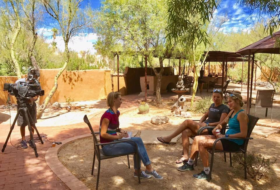 Maja Stage Nielsen and Asa Lundstromarefrom Europe. They came to Arizona to train. (Source: Homestretch Foundation via Facebook)