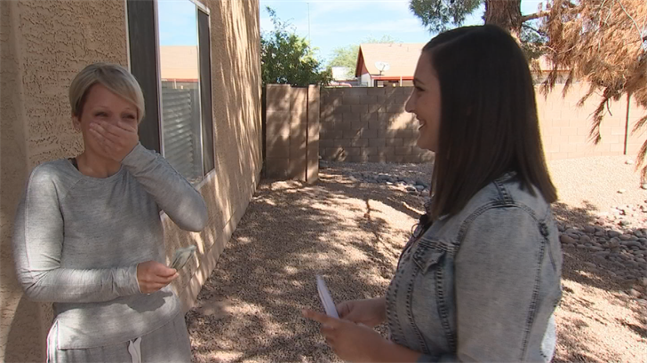 Kaitlyn Miller decided to Pay It Forward to Natalie Kellogg for all the work she does with kids with disabilities and surviving cancer. (Source: CBS 5)