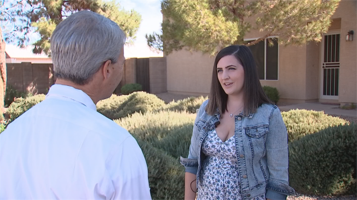 Miller knows what Kelloggis going through isn't easy, trying to heal and deal with thousands of dollars in medical bills, so she reached out to CBS 5 to Pay it Forward to Kellogg. (Source: CBS 5)