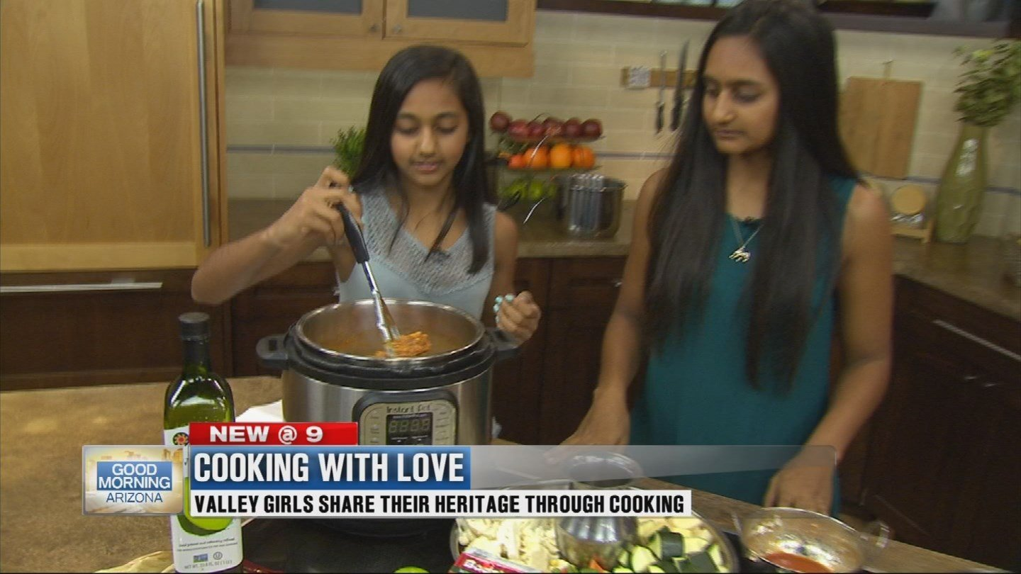 Junior Chef sisters Nyah and Kaya make traditional Indian dishes
