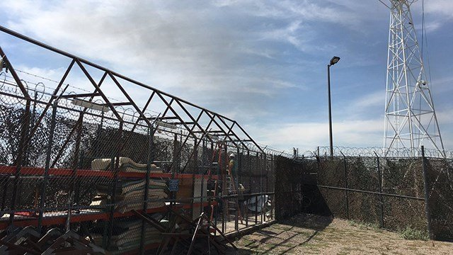 Crews tore down the last tent standing in the jail on Wednesday, June 7, 2017. (Source: Maricopa County Sheriff's Office)
