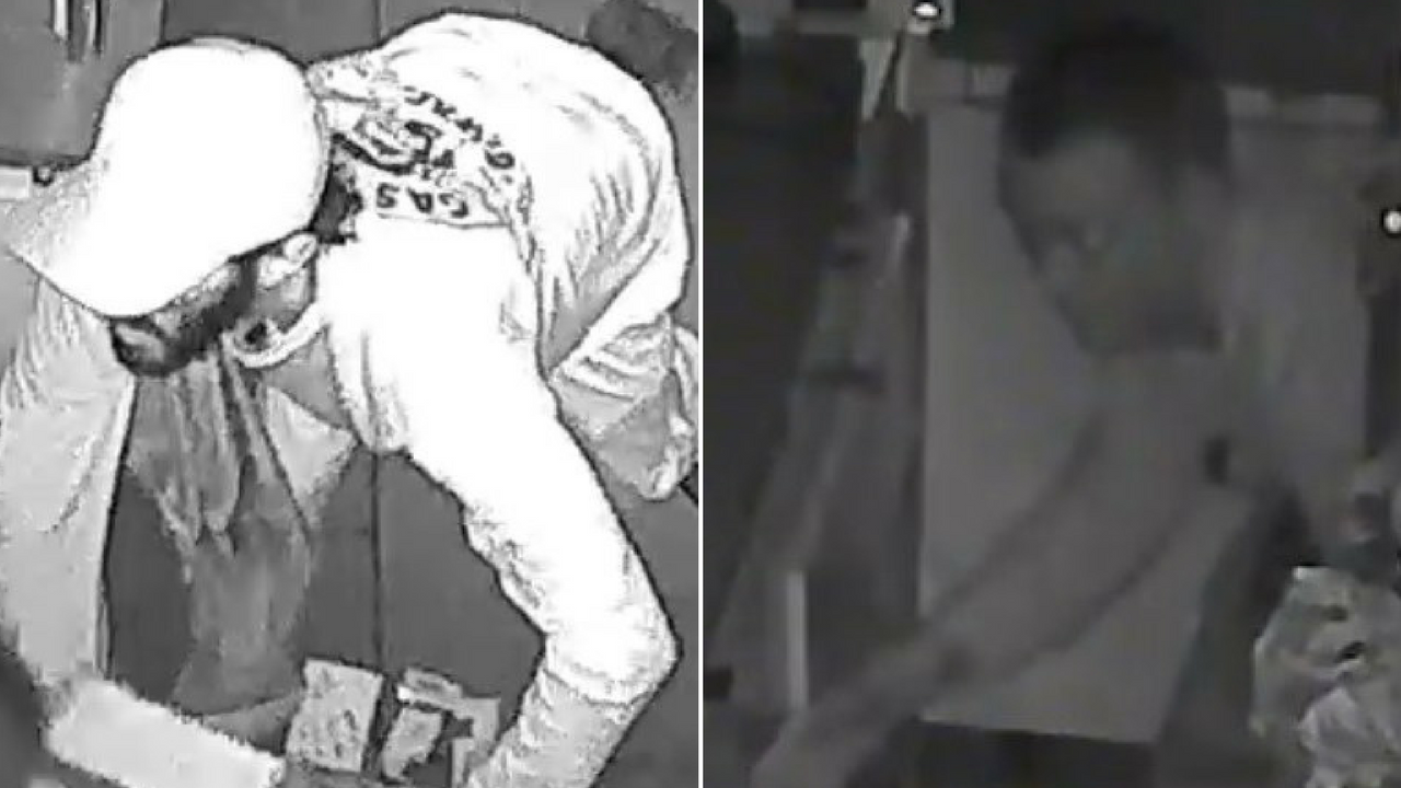 Two men were caught on camera burglarizing a day spa in Phoenix. (Source: Silent Witness)