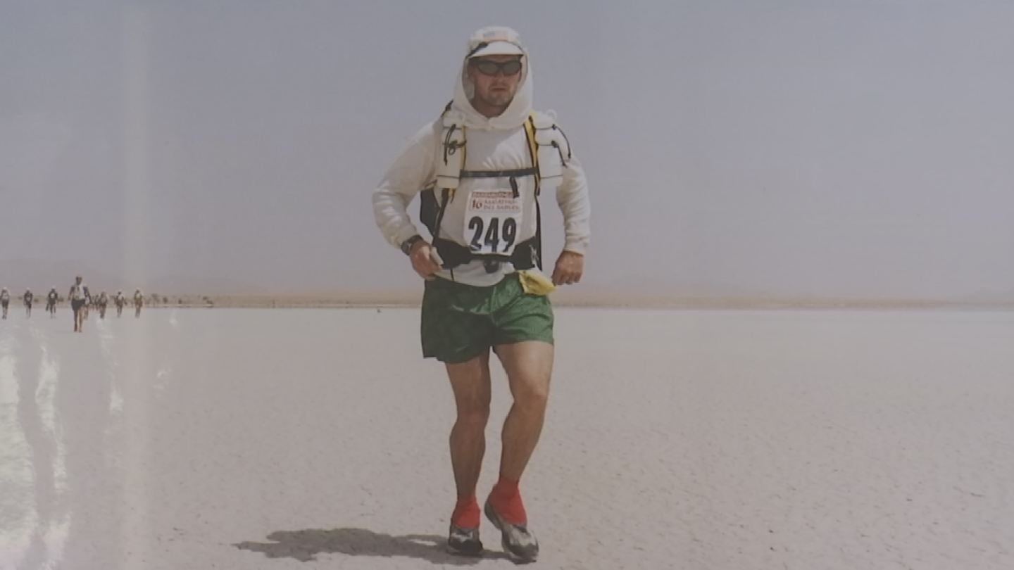Several years ago, he ran the Marathon des Sables, a grueling trek of 156 miles in seven days. (Source: 3TV/CBS 5)