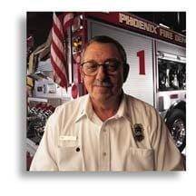 He joined the Phoenix Fire Department in 1958 and has held every sworn position in the department. (Source: Phoenix Fire Department)
