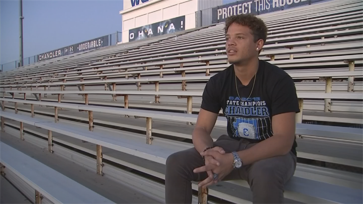 """""""My health is more important than just a game,"""" Shivers said. (Source: 3TV/CBS 5)"""
