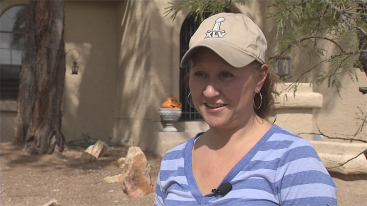 Lucy Nederbrock of Ahwatukee considers herself a responsible dog owner, always carrying a plastic bag with her, but some of her neighbors aren't as nice. (Source: 3TV/CBS 5)