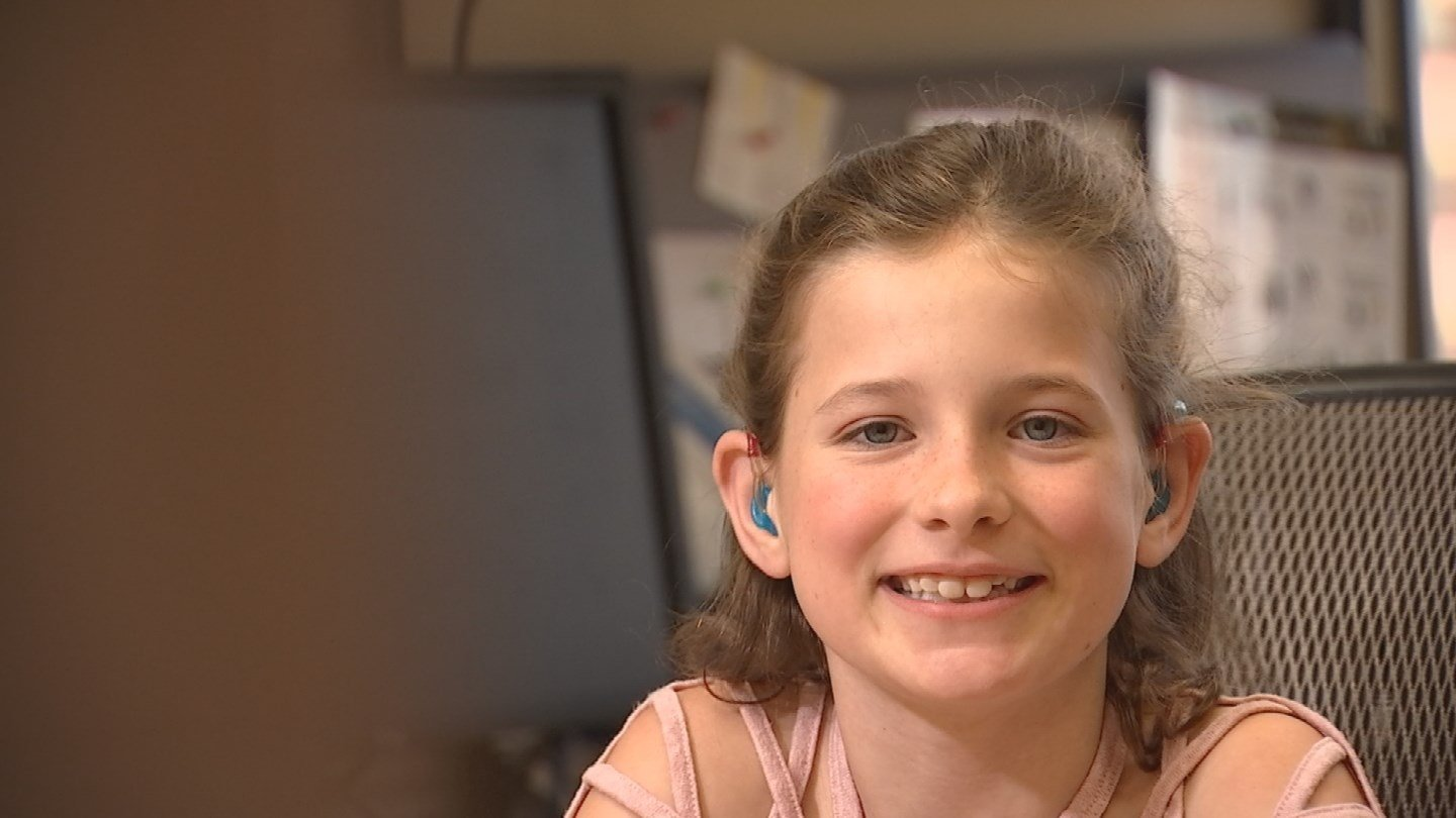 Madison, 9, is just one of the many children helped by The Ear Foundation. (Source: 3TV/CBS5)