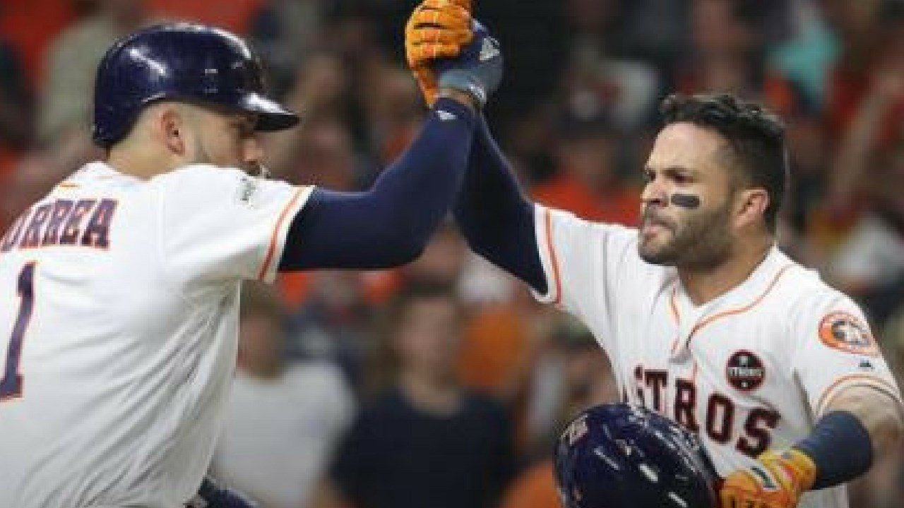 The Houston Astros beat the Yankees 4-0 Saturday. (The Associated Press)