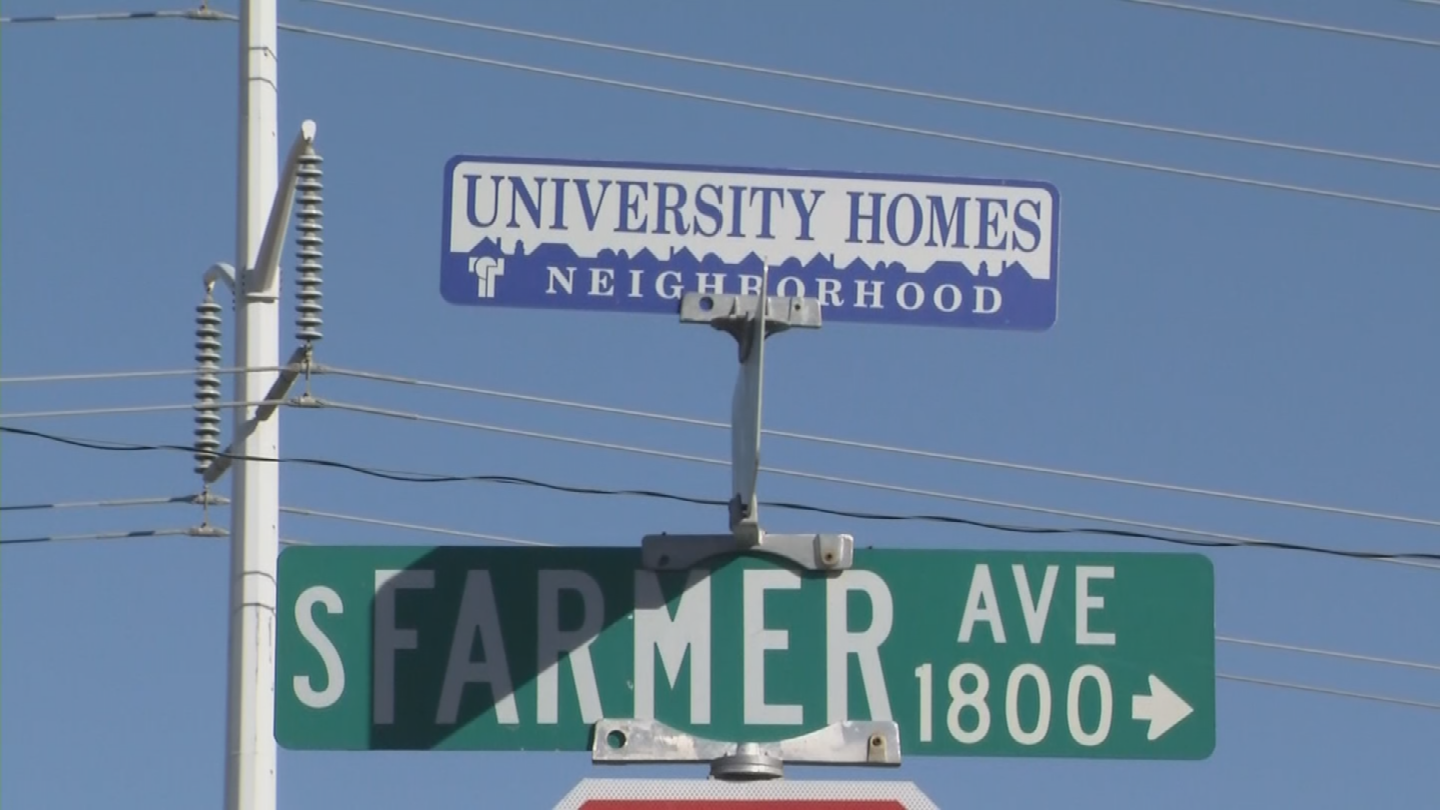 According to Tempe police, they received three calls on Saturday night in reference to the letters near 18th Street and Farmer Avenue. (Source: 3TV/CBS 5)