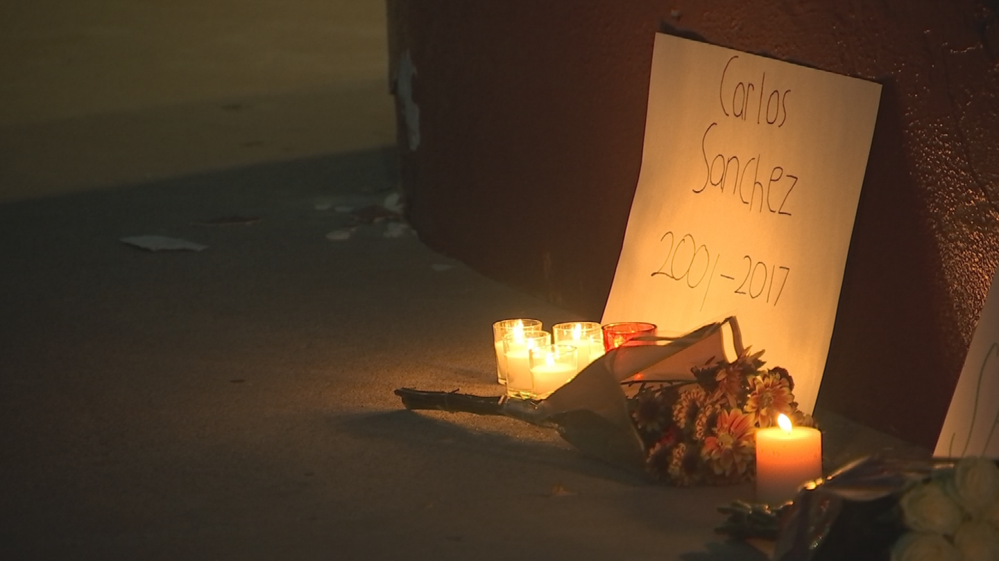 A makeshift memorial was made and several people lit candles. (Source: 3TV/CBS 5)