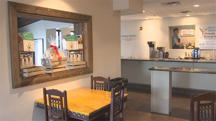 Employees at Mission Possible Café go through an eight-month course that includes four months of classes and four months of practical application. (Source: 3TV/CBS 5)