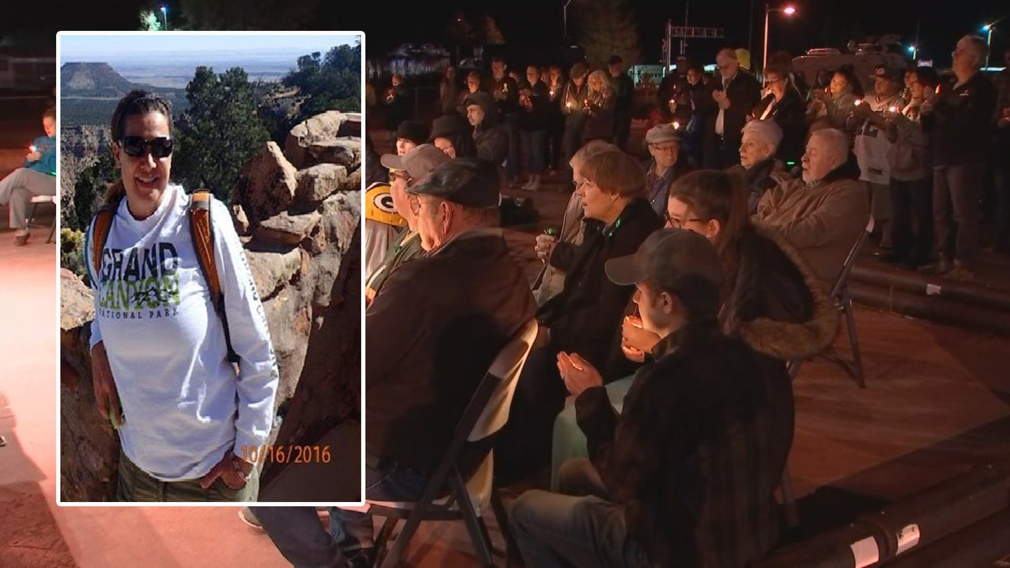 About 100 people showed up for a vigil for the Glendale teacher who was killed. (Source: 3TV/CBS 5)
