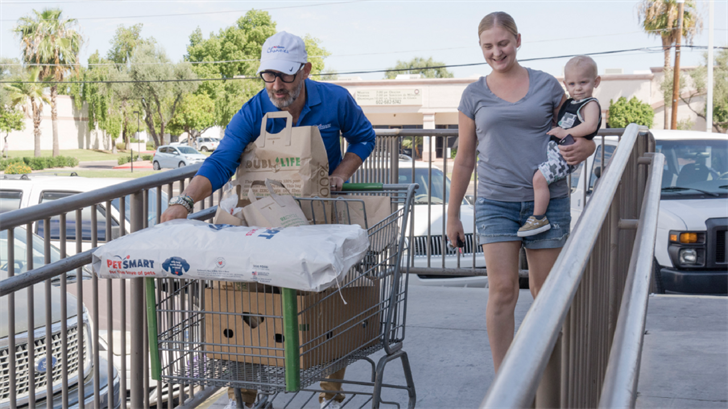 PetSmart and PetSmart Charities will send a record-tying donation to St. Mary's Food Bank on Thursday. (Source: PetSmart))