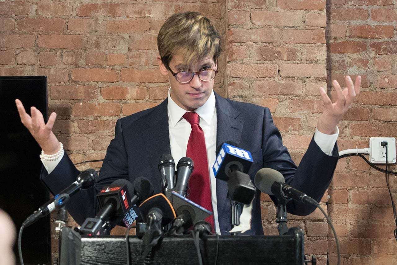 Yiannopoulos resigned as editor of Breitbart Tech after coming under fire from other conservatives over comments on sexual relationships between boys and older men. (Source: AP Photo/Mary Altaffer)